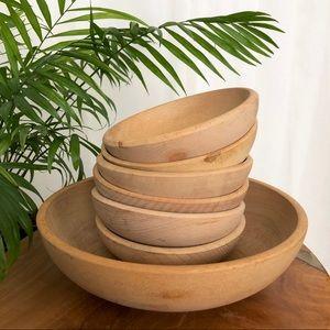Vintage Dining - Vintage Japanese Wooden Bowl Large Serving Size